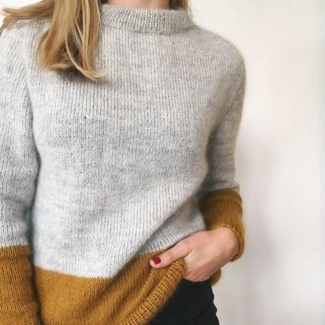 Petite Knit Kontrastpullover Strickset
