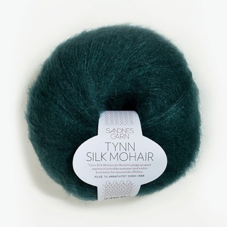 Sandnes Tynn Silk Mohair Dyp Petrol 7272