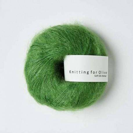 Knitting for Olive Soft Silk Mohair Clover Green