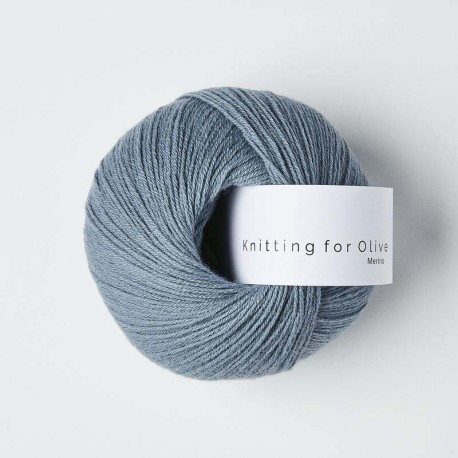 Knitting for Olive Merino Dusty Dove Blue