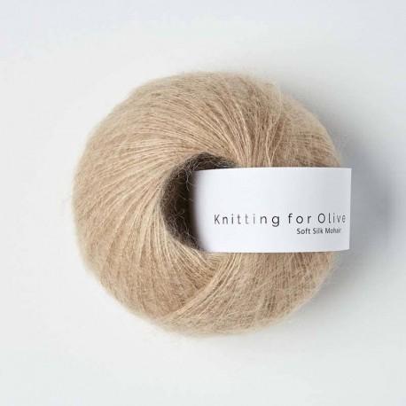 Knitting for Olive Soft Silk Mohair Mushroom Rose