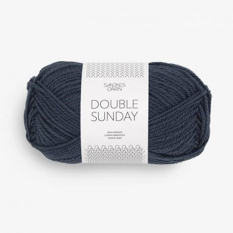 Sandnes Double Sunday Blue Natt 6580