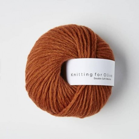 Knitting for Olive Double Soft Merino Rust