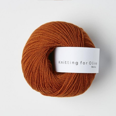 Knitting for Olive Merino Burnt Orange
