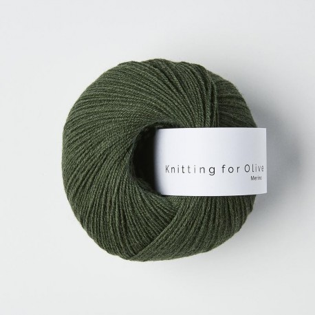 Knitting for Olive Merino Bottle Green