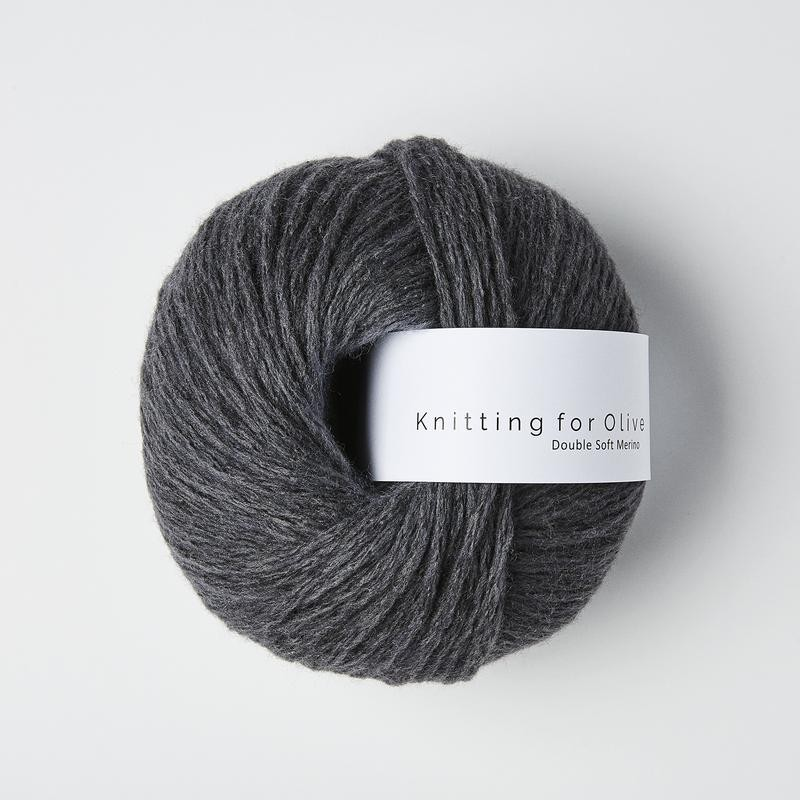 Knitting for Olive Double Soft Merino Charcoal Gray