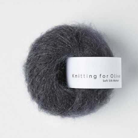 Knitting for Olive Soft Silk Mohair Slate Gray