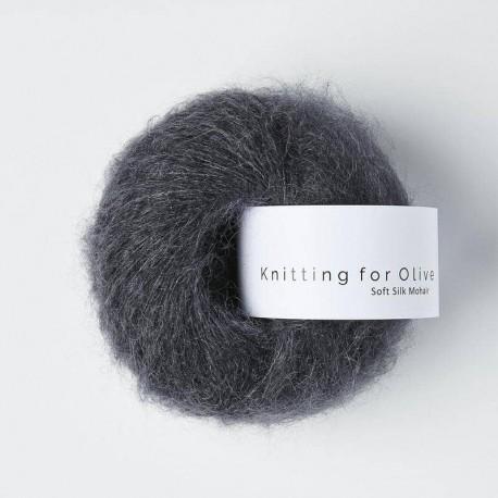 Knitting for Olive Soft Silk Mohair Slate Gray