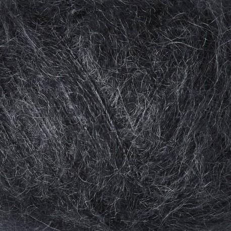 Knitting for Olive Soft Silk Mohair Slate Gray Detail