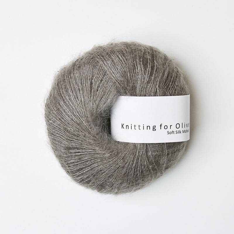 Knitting for Olive Soft Silk Mohair Dusty Moose