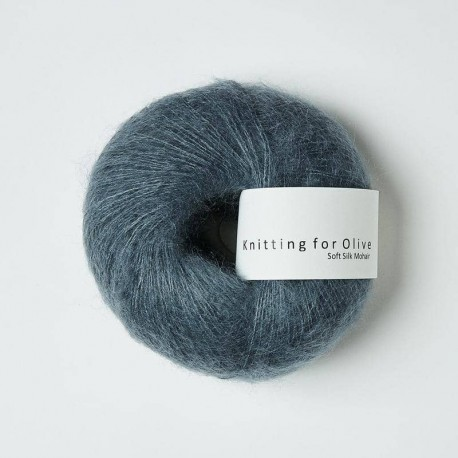 Knitting for Olive Soft Silk Mohair Dusty Petroleum Blue