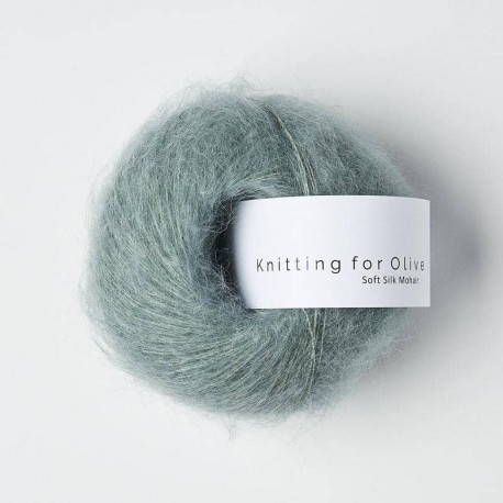 Knitting for Olive Soft Silk Mohair Dusty Aqua