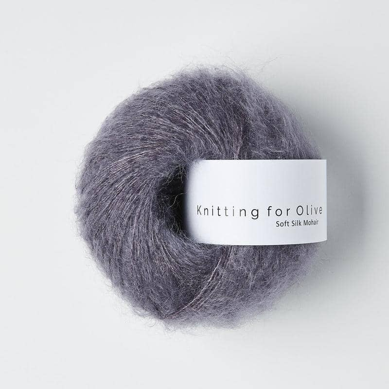 Knitting for Olive Soft Silk Mohair Dusty Violet