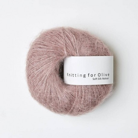 Knitting for Olive Soft Silk Mohair Dusty Rose