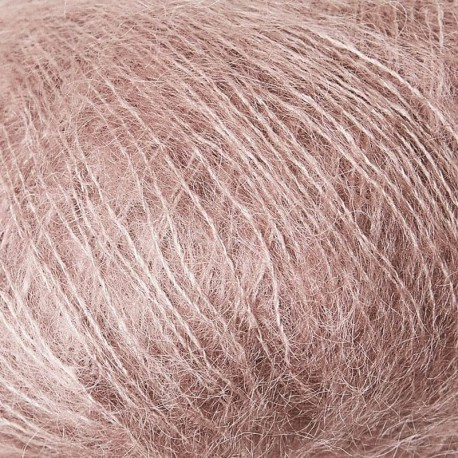 Knitting for Olive Soft Silk Mohair Dusty Rose Detail