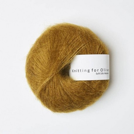 Knitting for Olive Soft Silk Mohair Dark Mustard