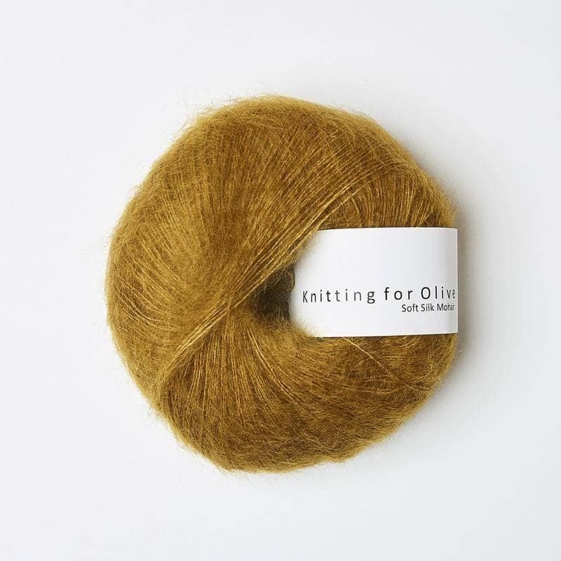 Knitting for Olive Soft Silk Mohair Dark Mustard