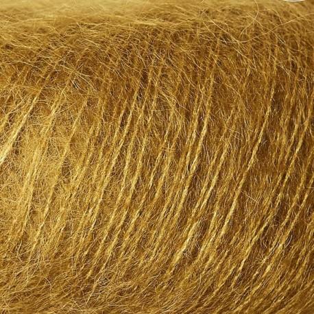Knitting for Olive Soft Silk Mohair Dark Mustard Detail