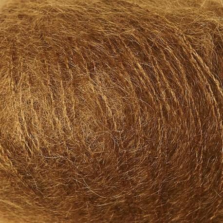 Knitting for Olive Soft Silk Mohair Ocher Brown Detail