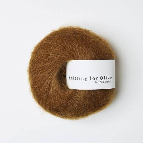 Knitting for Olive Soft Silk Mohair Ocher Brown