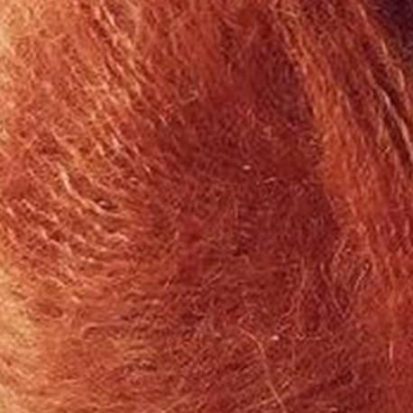 Knitting for Olive Soft Silk Mohair Burnt Orange Detail