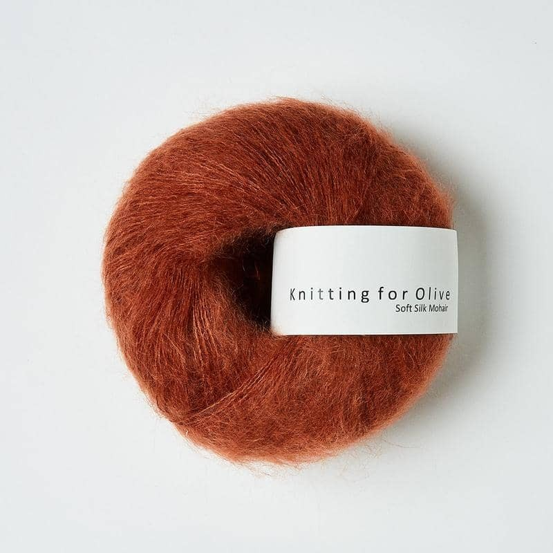 Knitting for Olive Soft Silk Mohair Dusty Robin