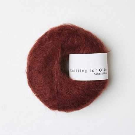 Knitting for Olive Soft Silk Mohair Claret