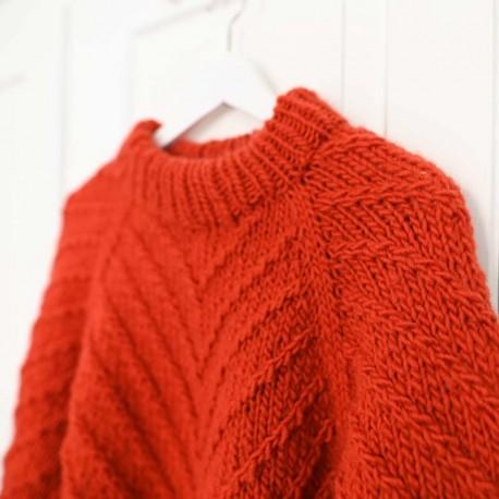 Rust Knitwear Lines Sweater