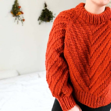 Rust Knitwear Lines Sweater