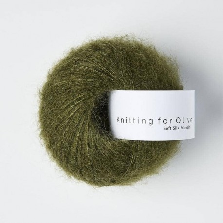 Knitting for Olive Soft Silk Mohair Slate Green