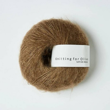 Knitting for Olive Soft Silk Mohair Nut Brown