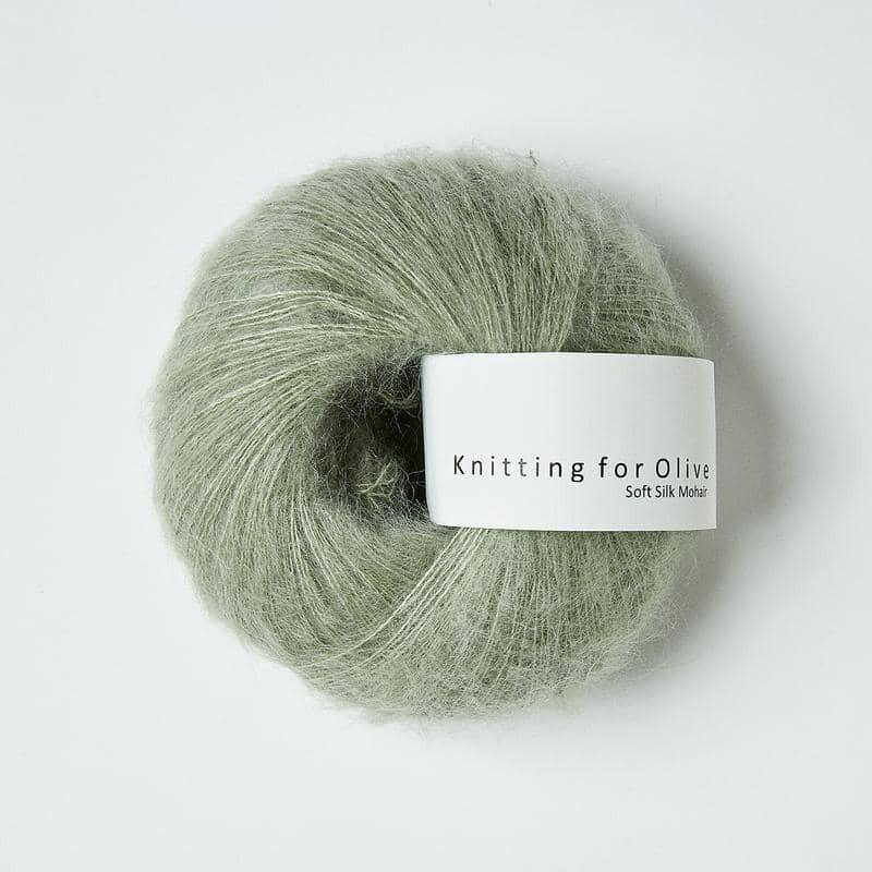 Knitting for Olive Soft Silk Mohair Dusty Artichoke