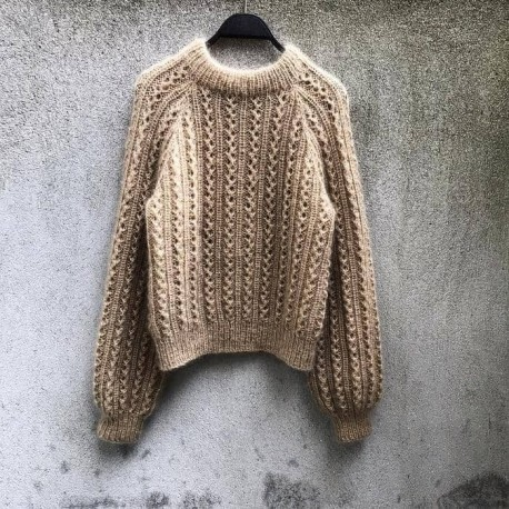 Waffle Sweater Knitting for Olive