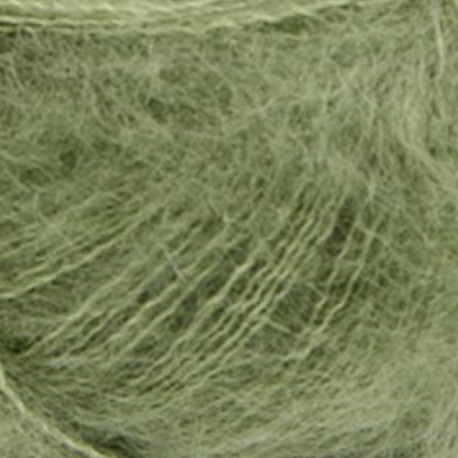 Mohair by Canard Brushed Lace Oliven 3028 Detail