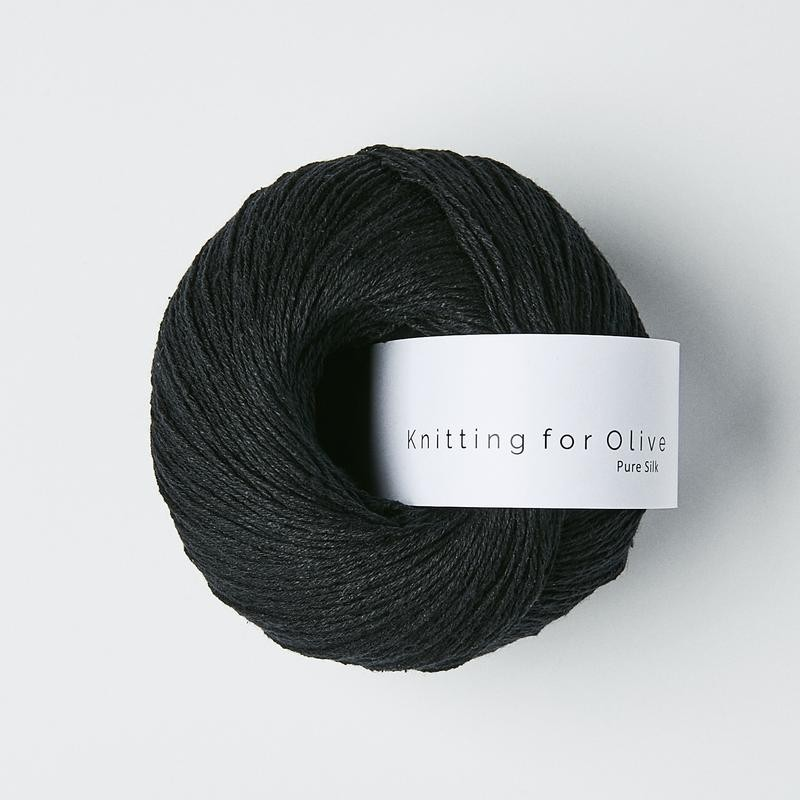 Knitting for Olive Pure Silk Charcoal