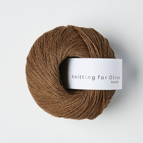 Knitting for Olive Pure Silk Dark Cognac