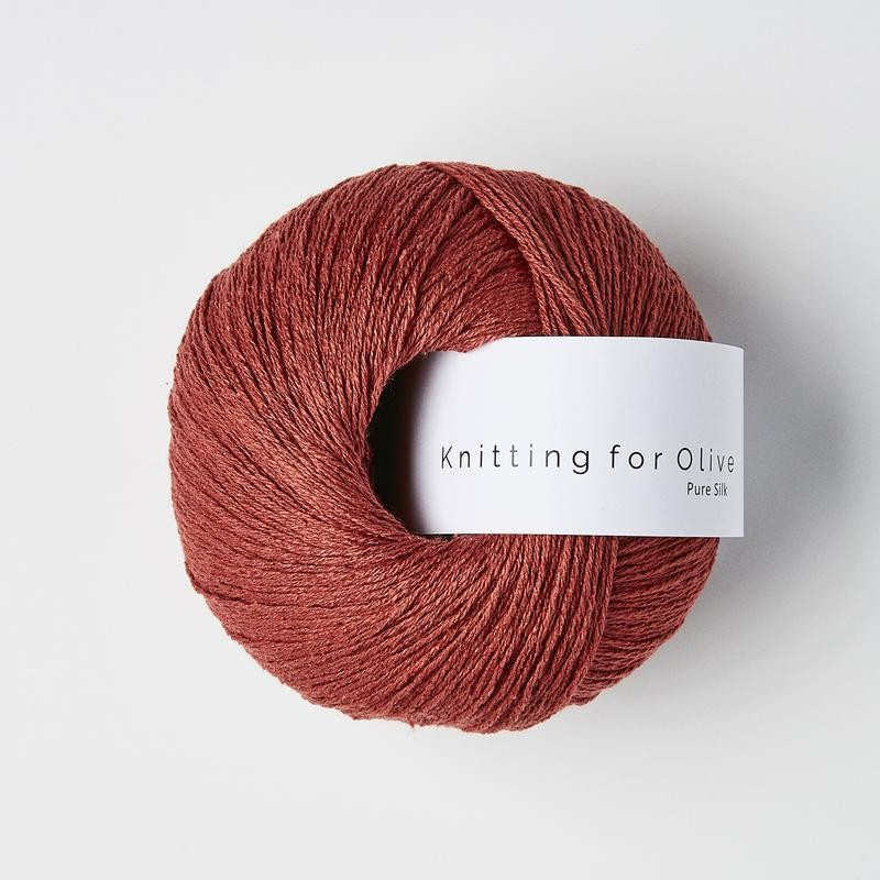 Knitting for Olive Pure Silk Gooseberry Red