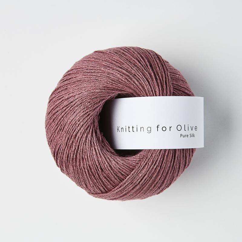 Knitting for Olive Pure Silk Plum