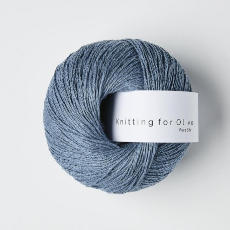 Knitting for Olive Pure Silk Dove Blue