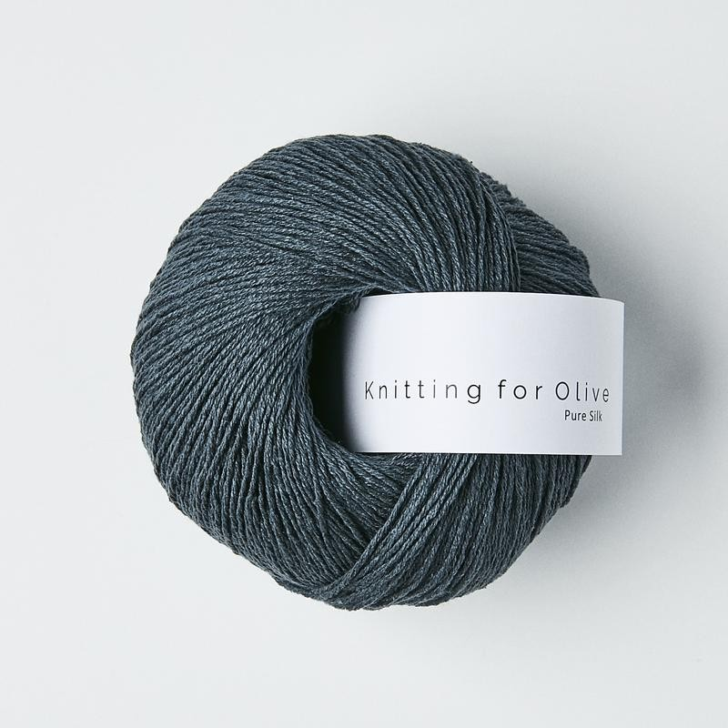 Knitting for Olive Pure Silk Deep Petroleum Blue