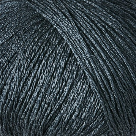 Knitting for Olive Pure Silk Deep Petroleum Blue Detail