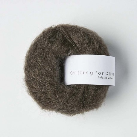 Knitting for Olive Soft Silk Mohair Dark Moose