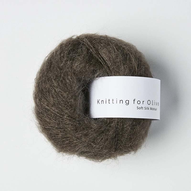 Knitting for Olive Soft Silk Mohair Dark Moose