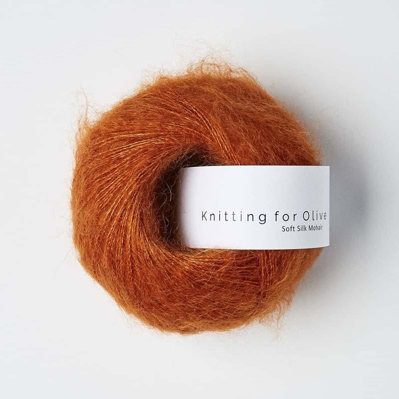 Knitting for Olive Soft Silk Mohair Burnt Orange