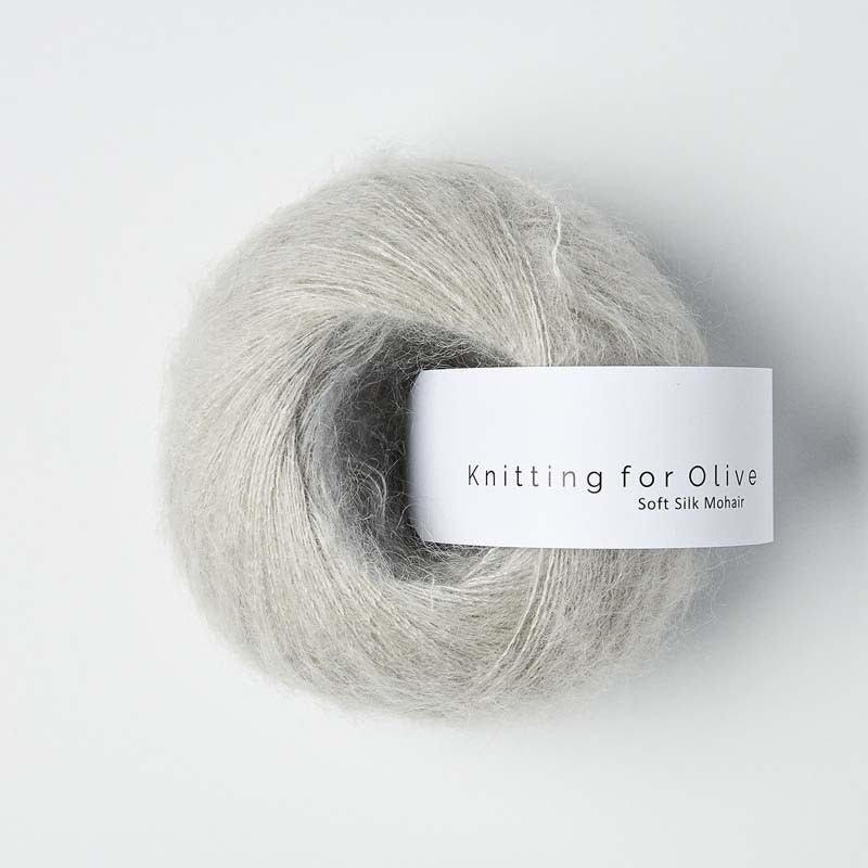Knitting for Olive Soft Silk Mohair Pearl Gray