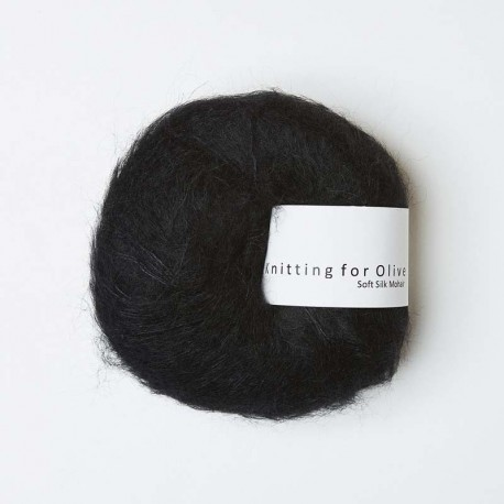 Knitting for Olive Soft Silk Mohair Licorice