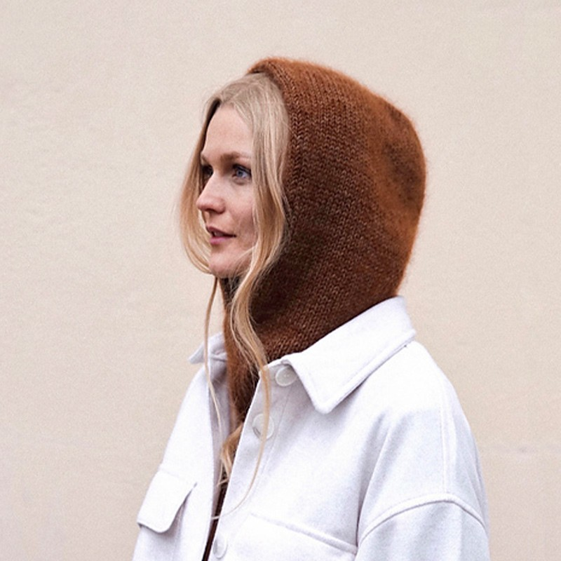 The Simple Knit Hood Lia Lykke Strickanleitung und Wolle