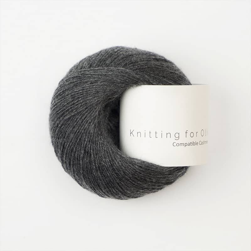 Knitting for Olive Compatible Cashmere Slate Gray