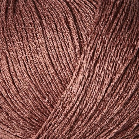 Knitting for Olive Pure Silk Plum Rose Detail