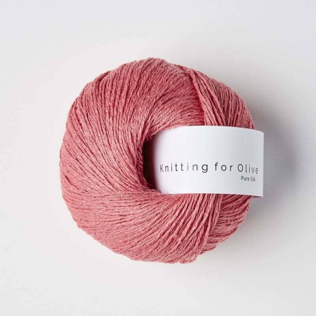 Knitting for Olive Pure Silk Raspberry Pink